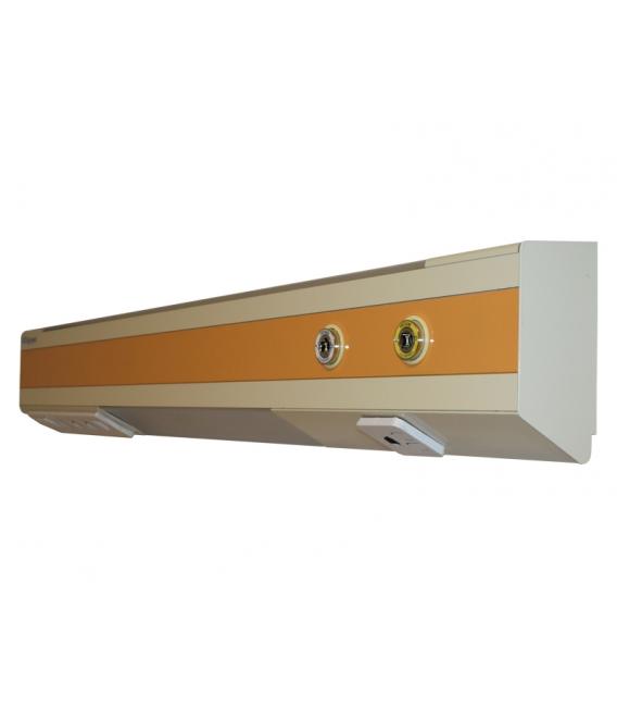Hasta Yatak Başı Ünitesi ST 2 Kişilik 300 cm. 3 Gazlı BS Norm